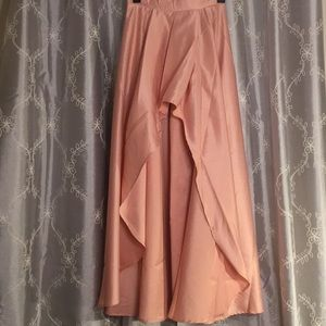 🆕NWOT Jasmine Blush Mini High/Low Taffeta Skirt,S